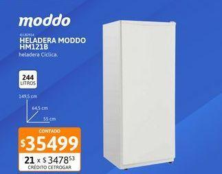 Oferta de Helad Moddo 282 Lts 1F Bl HM121B por $35499