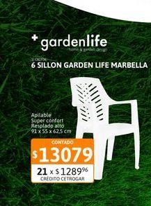 Oferta de 6 Sillon Garden Lif Marbella Blan F88000 por $13079