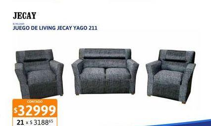 Oferta de Jgo Living Jecay Yago 211 Rust Gris/negr por $32999