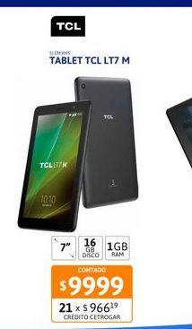 """Oferta de Tablet TCL LT7 M 7"""" 1-16GB por $9999"""