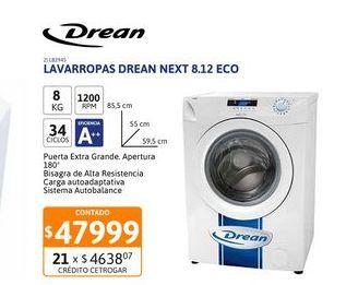 Oferta de Lavarr Drean NEXT 8.12 eco 8K 1200rpm CF por $47999