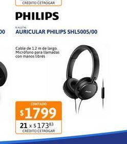 Oferta de Auricular Philips SHL5005/00 Vincha por $1799