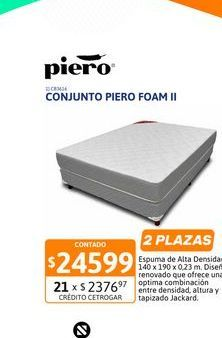 Oferta de Conj Piero Foam II 140x190x23 Espuma por $24599