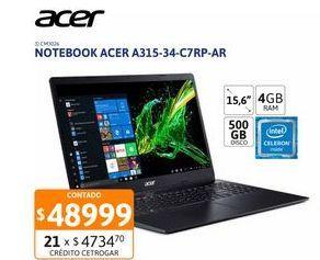 """Oferta de Not Acer A315-34-C7RP-AR 15"""" Cel 4-500GB por $48999"""