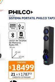 Oferta de Sist. Portat. Philco TAP350 3000W BT x2 por $18499