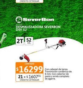 Oferta de Desmalezadora Severbon DSV-52 52 cc por $16299