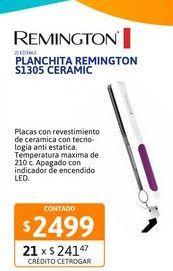 Oferta de Plancha p/cab Remington S1305 ceramic por $2499