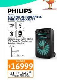 Oferta de Sist de Parl Philips TANX50/77 20WRMS por $16999