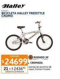 Oferta de Bicic Halley Freestyle Cromo R20 16300/05 por $24699
