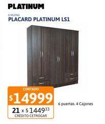 Oferta de Placard Platinum Ls1 2p Tabaco 91208 por $14999