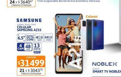 """Oferta de TE2636Cel Lib Sams A21s 6,5"""" 4/64 48MP Azul por $314999"""