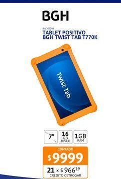 Oferta de Tab Posit BGH Twist Tab T770K 1-16GB por $9999