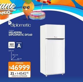 Oferta de Helad DIPLOMATIC 326L DF160 BL c/f New L por $46999