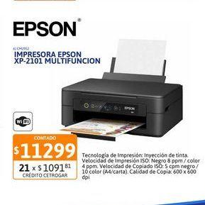 Oferta de Impres Epson XP-2101 Multifuncion Wifi por $11299