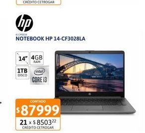 Oferta de Not HP 14-cf3028la Ci5 4GB - 1TB W10 por $87999