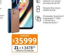 """Oferta de Cel Lib Moto G9 Plus 6,8"""" 4/128 64MP Ros por $35999"""