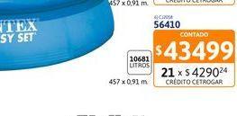 Oferta de Pil Intex 56410 457x91 10681 L S/bomba por $43499