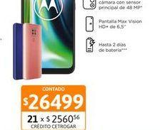 "Oferta de Cel Lib Moto G9 Play 6,5"" 4/64 48MP Rosa por $26499"