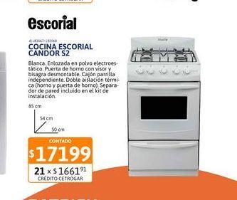 Oferta de Cocina Escorial Candor S2 51cm por $17199