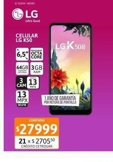 """Oferta de Cel Lib LG K50s 6,5"""" 3/32 Negro por $27999"""