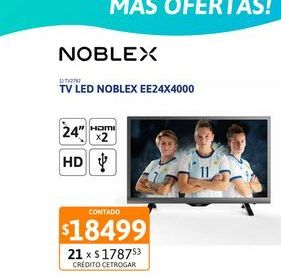 Oferta de Tv Led 24 Noblex EE24X4000 HD Dig por $18499