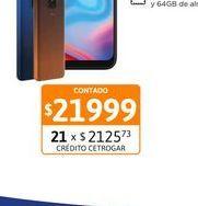 """Oferta de Cel Lib Moto E7 Plus 6,5"""" 4/64 48MP Nara por $21999"""