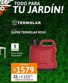Oferta de Super Termo Termolar 5 Lts Rojo por $1579