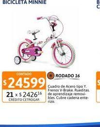 Oferta de Bicic Minnie R16 nena rayos 161112 por $24599