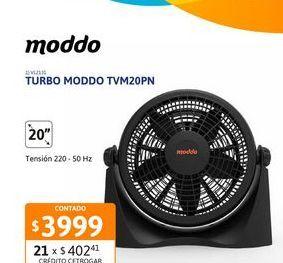"""Oferta de Turbo moddo 20"""" TVM20PN por $3999"""