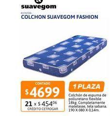Oferta de Colchon Suavegom Fashion 190X080X14 Espu por $4699