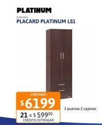 Oferta de Placard Platinum Ls1 2p Tabaco 91208 por $6199