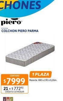 Oferta de Colchon Piero Parma Jack 080x190x20 Espu por $7999