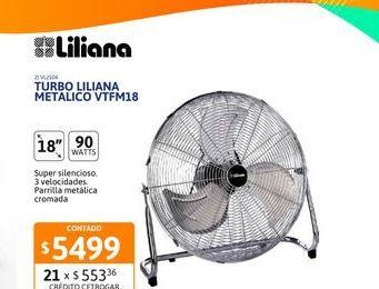 """Oferta de Turbo Liliana 18"""" metalico 90w VTFM18 por $5499"""