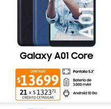 """Oferta de Cel Lib Sams A01 Core 5,73"""" 1/16 Azul por $13699"""