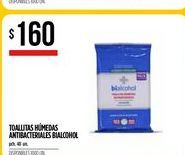 Oferta de Toallitas húmedas antibacteriales  por $160