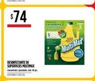 Oferta de Desinfectante multimax  por $74