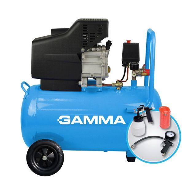 Oferta de Compresor GAMMA G2851KAR 50lts C/KIT por $27131,57