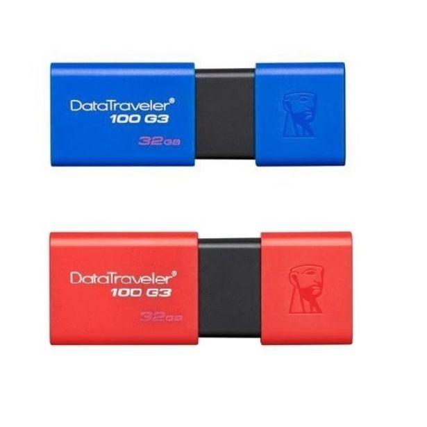 Oferta de Pendrive KINGSTON DT100G3/32GB 3.0 color por $903,16
