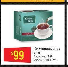 Oferta de Tés Green Hills 50un  por $99