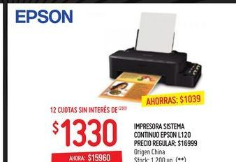 Oferta de Impresoras Epson l120 por $15960