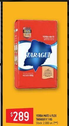 Oferta de Yerba mate Taraguí 1kg por $289