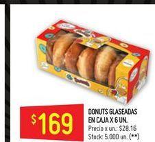 Oferta de Donuts glaseadas en caja 6 un  por $169