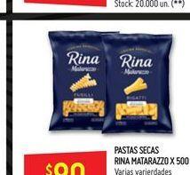 Oferta de Pastas secas rina x 500g  Matarazzo por $80