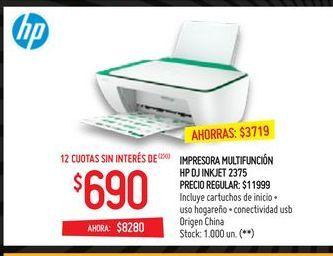 Oferta de Impresora multifunción HP por $8280