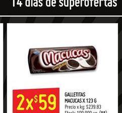 Oferta de Galletitas 123g  Macucas por $59