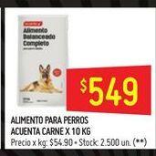 Oferta de Alimento para perros Acuenta 10kg por $549