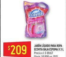 Oferta de Jabón líquido Ecovita 3l  por $209