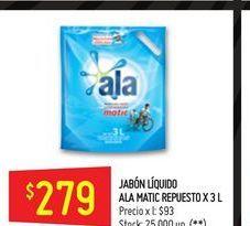 Oferta de Jabón líquido Ala 3L por $279