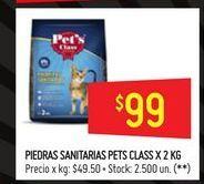 Oferta de Piedras sanitarias pets class 2kg  por $99