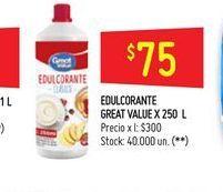 Oferta de Edulcorante Great  250l  por $75